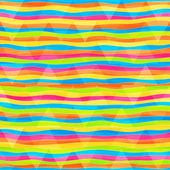 Rainbow lines seamless pattern — Stock Vector