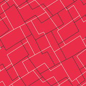Red mosaic seamless pattern — Stock Vector