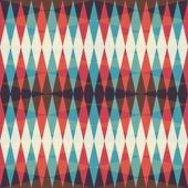 Retro rhombus seamless pattern — Stock Vector