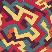 Retro kromme naadloze patroon — Stockvector
