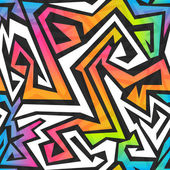 Spectrum color graffiti seamless pattern — Vecteur