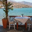 Stock Photo: Beautiful outdoor restaurant (Crete, Greece)