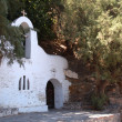 Small white Greek orthodox church — Stock Photo