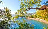 Beautiful beach, Mediterranean sea (Italy) — Stock Photo