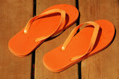 Orange sandals — Stock Photo