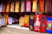 Balinese colourful batik (Indonesia) — Stock Photo