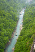 River canyon in the rain — Stock Photo