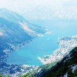 Aerial view of Kotor bay(Boka Kotorska), Montenegro — Stock Photo #12113294