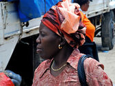 Portrait of african woman — Stock Photo