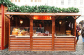 Grill chees hut on Prague Christmas market — Stock Photo