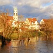 Regensburg and Danube river, Bavaria, Germany - Stock Photo