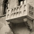Famous balcony of Juliet — Stock Photo