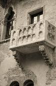 Famous balcony of Juliet — Stock Photo