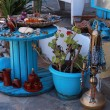 Greek bijou and souvenir market — Stock Photo