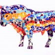 Stock Photo: Bull in Gaudi style - spanish souvenir