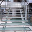 Modern glass staircase — Stock Photo