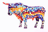 Bull in Gaudi style - spanish souvenir — Stock Photo
