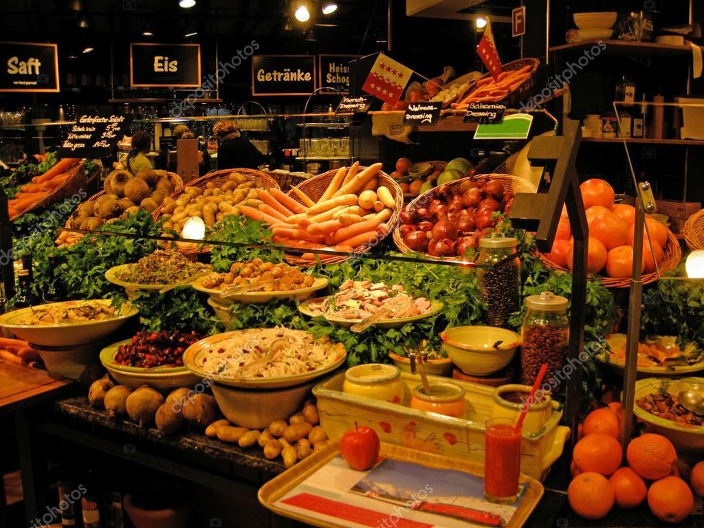 Buffet Fresh Vegetable Salad Bar Stock Photo 12274526