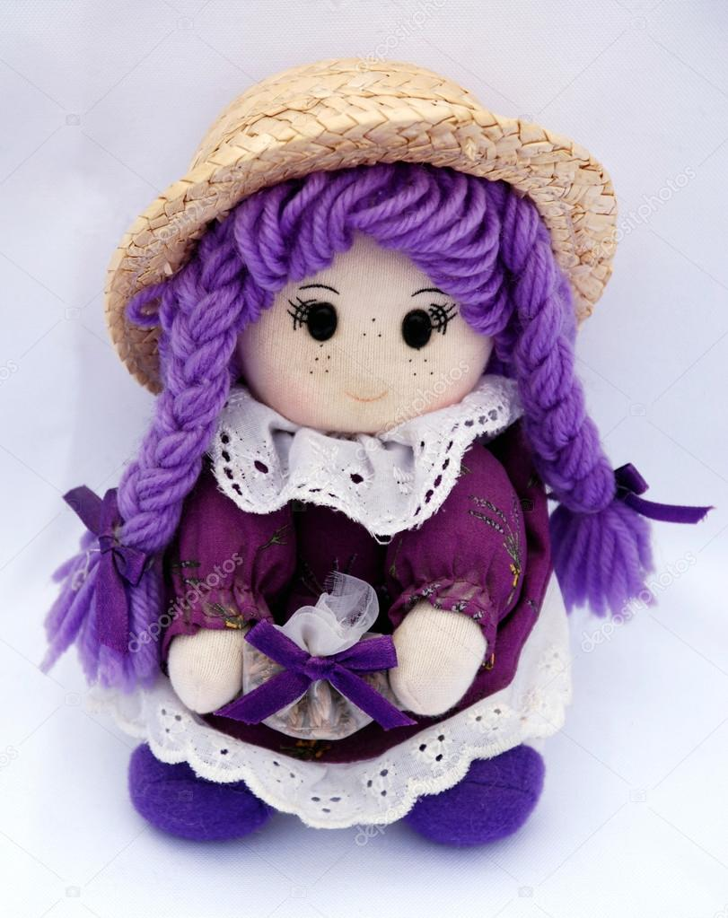 French national doll in violet colors — Stock Photo #12282664