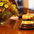 Hotel reception bell - Stock Photo