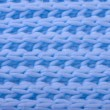 Blue wool knitted texture — Stock Photo