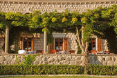 Outdoor restaurant terrace(Italy) — Stock Photo