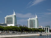 Modern buildings at Expo area in Lisbon (Portugal). — Stock Photo