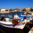 Fishing boats in Elounda (Crete, Greece). — Stock Photo #12394396