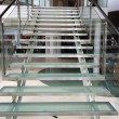 Stock Photo: Modern glass staircase