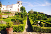 Garden in medieval village Marvao(Portugal) — Stock Photo