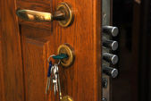 Safe lock in the home — Stock Photo