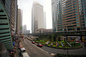 Hong Kong traffic in Connaught Road — Stock Photo