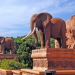 Stock Photo: Statue of elephants
