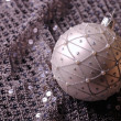 Silver Christmas ball — Stockfoto