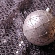 Royalty-Free Stock Photo: Silver Christmas ball
