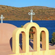 Classical orthodox Greek church(Crete,Greece) - Stock Photo