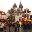 Stock Photo: Prague Christmas market