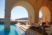 Luxury resort with beautiful seaview(Greece) — Stock Photo