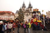 Prague Christmas market — Stock Photo