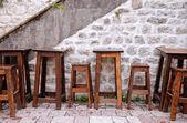 Outdoor european cafe — Stock Photo