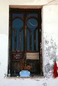Rustic window in Greece — Foto de Stock