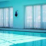 Turquoise pool interior — Stock Photo