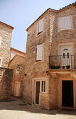 Mediterranean stone medieval house — Photo