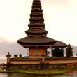 Buddhist temple on lake Bratan, Bali, Indonesia — Stock Photo #13896435