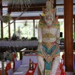 Stock Photo: Restaurant and balinese statue(Bali, Indonesia)