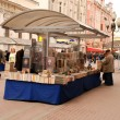 Stock Photo: Street book market (Moscow, Russia)