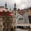 Постер, плакат: Cityscape with Saint Mary Magdalene church Karlovy Vary