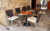 Mediterranean outdoor cafe — Stock Photo