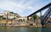 Ribeira, Bridge and Douro river(Porto,Portugal) — Stock Photo