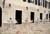 Café italiano en la calle — Foto de Stock